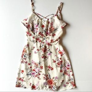 Trixxi Mini Dress Floral Layered Spaghetti Strap